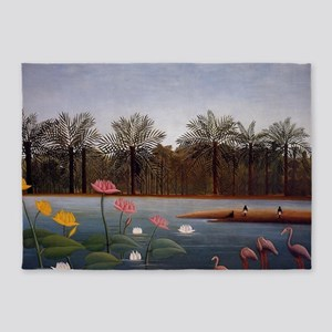 The Flamingos 5'x7'Area Rug